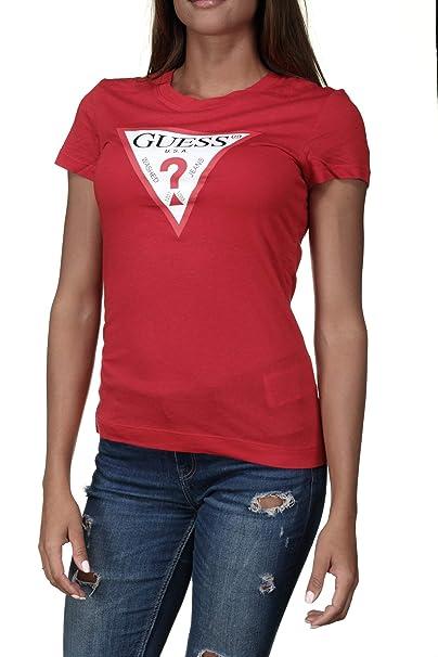 GUESS Original, Camiseta Manga Corta para Mujer: Amazon.es: Ropa y accesorios