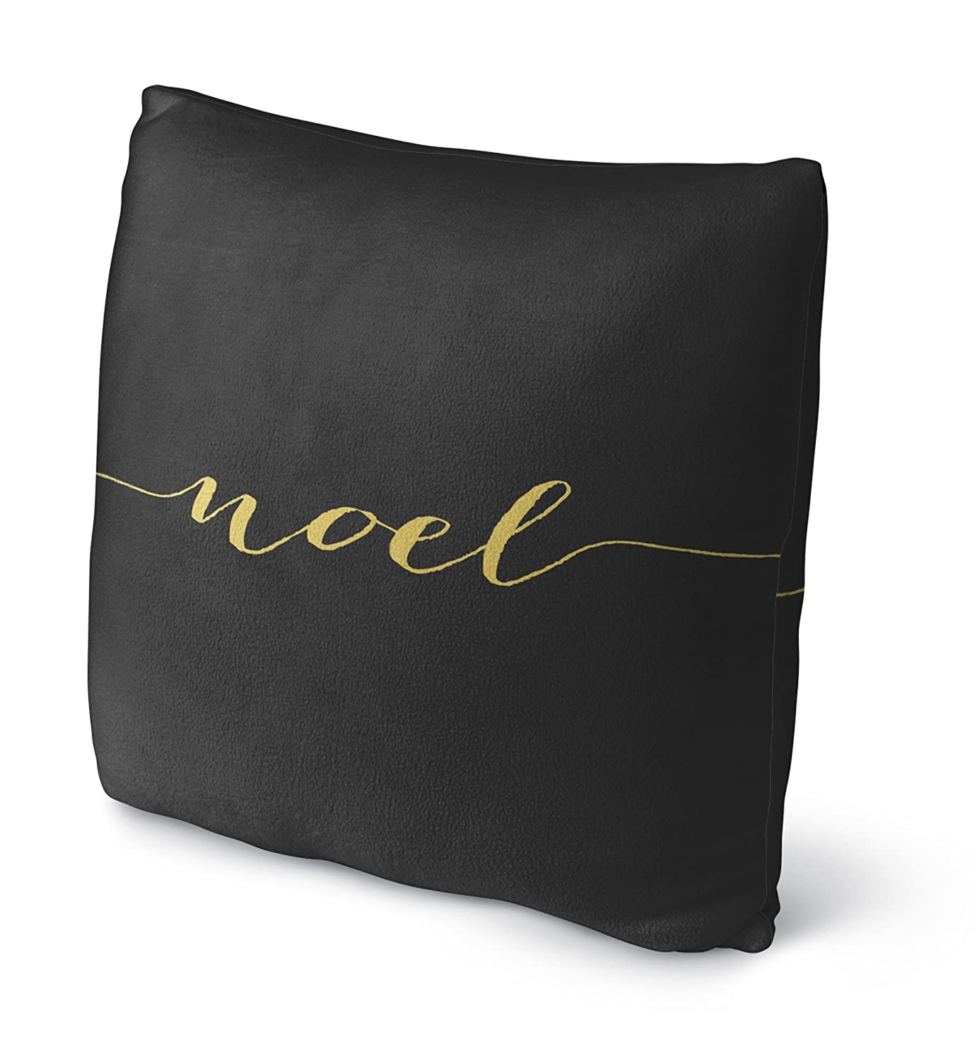 Black//Gold RVIAVC1516FBS18 KAVKA Designs Noel Fleece Throw Pillow, Size: 18X18X4 - - TRADITIONS Collection