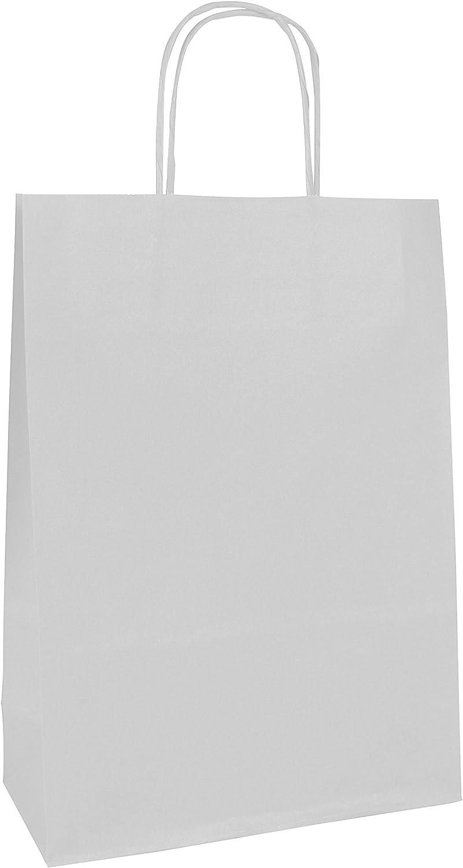 Clairefontaine 395608C Paquet de 25 sacs kraft lisse blanc 90g 18x7x24cm