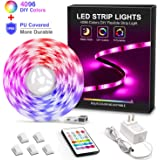 MYPLUS LED Strip Light, 16.4ft RGB Led Lights Strips with Remote Control and Color Changing, Upgrade Durable Waterproof Rope Lights for Bedroom,Home,Kitchen and Holiday Decoration