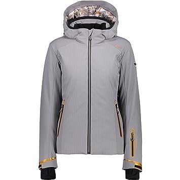 CMP – Chaqueta multifunción Esquí Snowboard Chaqueta gris rayas Stretch 3 W04976, gris