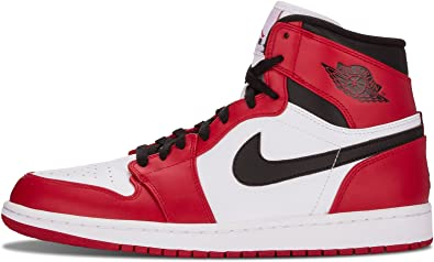 Desde Comerciante Bombero  Amazon.com | Nike Mens Air Jordan 1 Retro High Chicago White/Varsity  Red-Black Leather Basketball Shoes Size 11.5 | Basketball