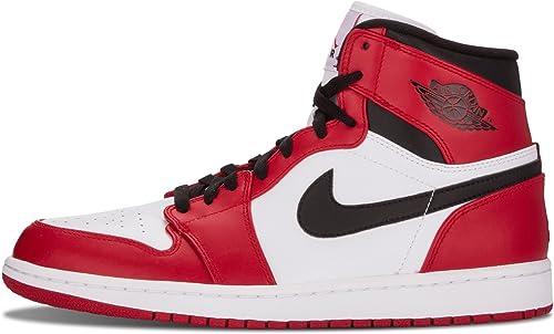 Nike Mens Air Jordan 1 Retro High Chicago White/Varsity Red ...