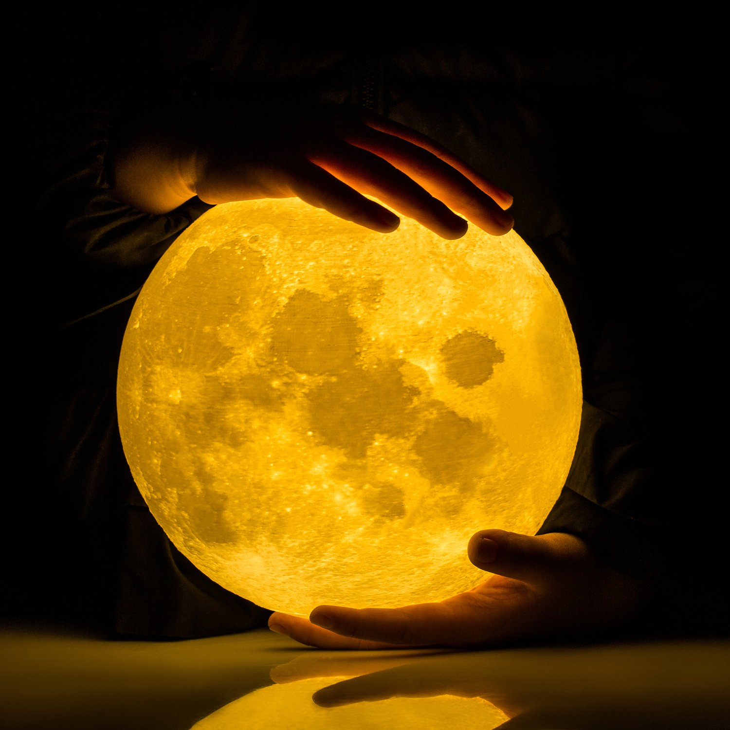Gpjoy Moon Lamp 3d Printing Night Light Brightness Control For Small Lamps Circuit Rechargeable Lunar Dimmable Touch