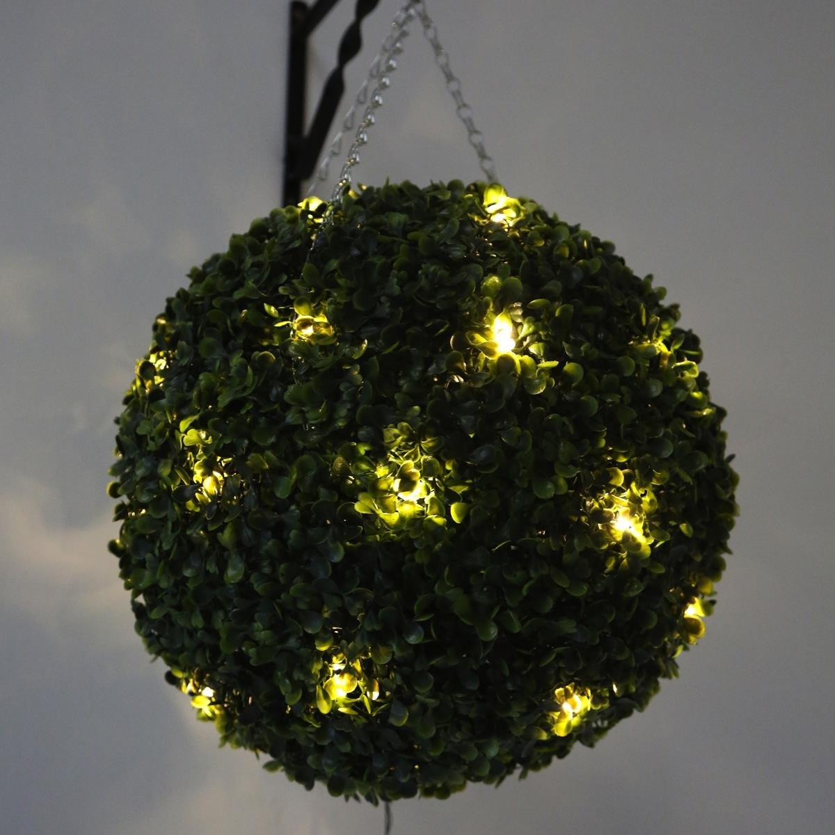 40cm Topiary Balls Part - 20: Pre Lit Topiary Ball 40cm (30 Warm White LED Lights): Amazon.co.uk: Lighting