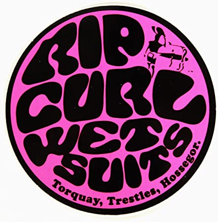 Rip Curl Aufkleber Wetsuits pink