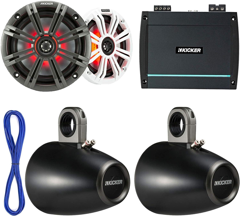 "NEW POWER ACOUSTIK Marine//Boat 6.5/"" 500-Watt Wake Tower Enclosure Speaker System"