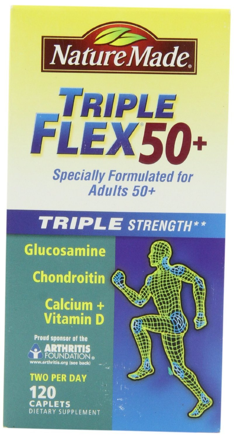 Nature Made Triple Flex 50+, New Mega Size Package 240 Caplets
