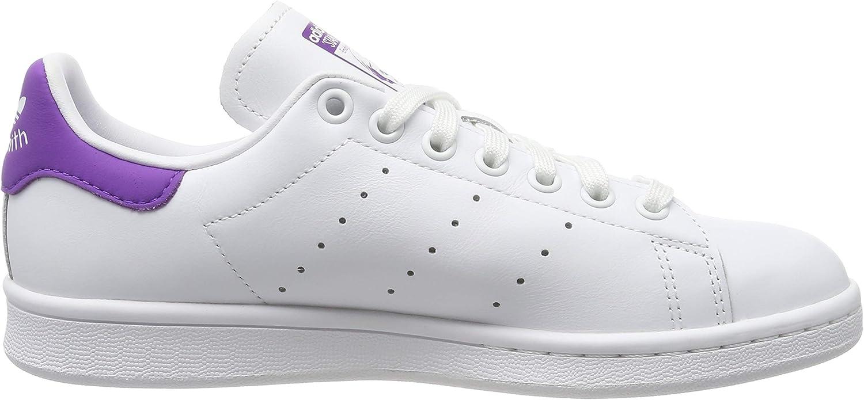 adidas Damen Stan Smith Sneaker, Jaune or/Blanc Weiß (Footwear White/Active Purple/Footwear White 0)