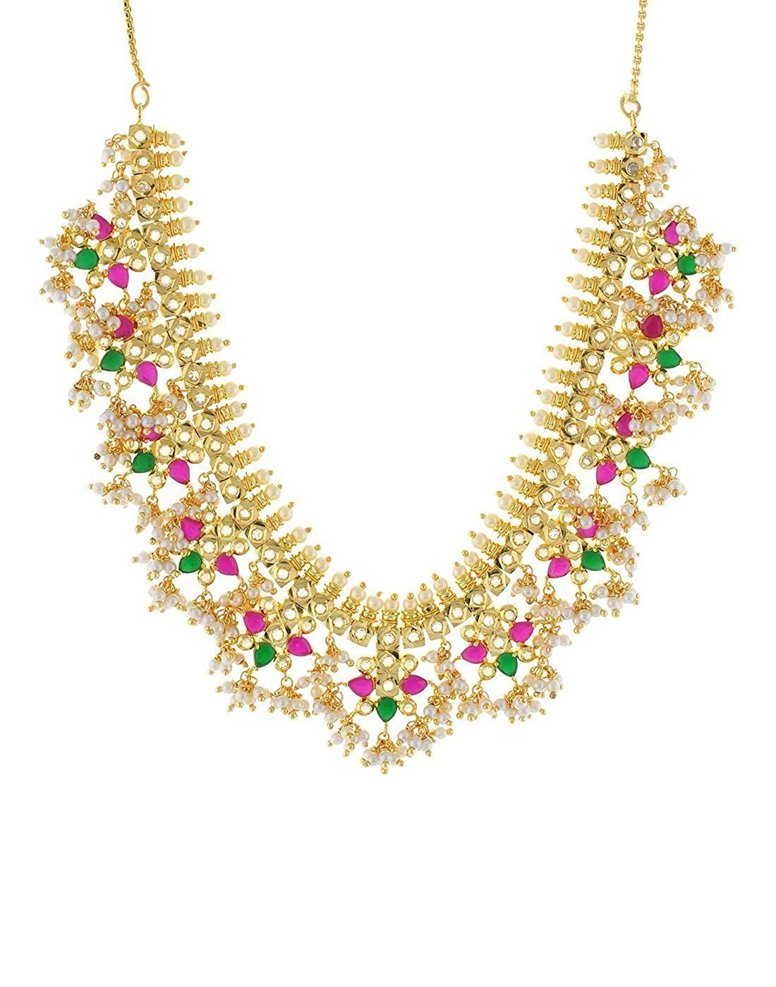 a6836fb93d8fc Buy SL PEARLS Gold Plated Traditional Gutta Pusalu Necklace for ...