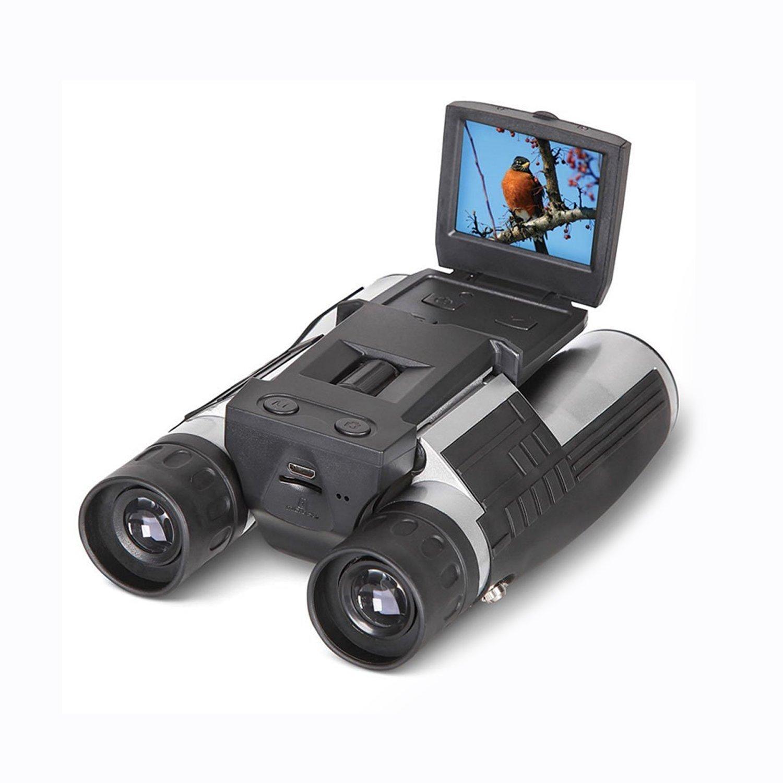 SGODDE 2インチフルHDデジタルカメラ双眼鏡 12x32 5MP ビデオレコーダー カムコーダー 液晶ディスプレイ HD 1080p ディスプレイ付き望遠鏡 ウォッチング ハンティング 監視用   B01N5LW543