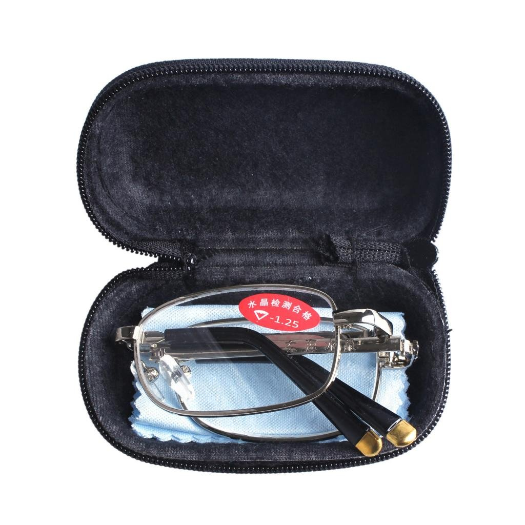Southern Seas Nearsighted Shortsighted -1.25 Folding Travel Glasses *These are not reading glasses*