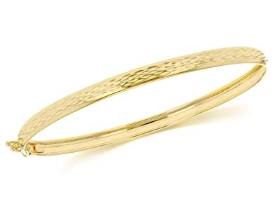 Carissima Gold 9ct Yellow Gold Twist Detail Bangle lDT7z