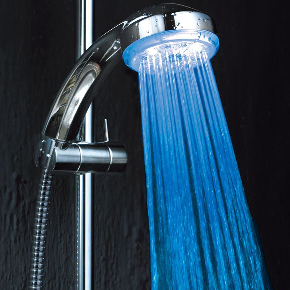 Kawachi 7 Color Changing LED Shower Head Automatic ABS Plastic ...
