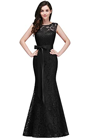 Misshow Lace Mermaid Evening Dress For Women Formal Long Prom Dress