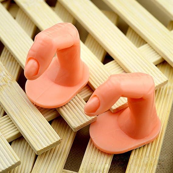 Frcolor Herramienta de impresión de manicura Fake modelo de práctica de dedo para DIY Manicura paquete de formación de arte de uñas de 5: Amazon.es: Belleza