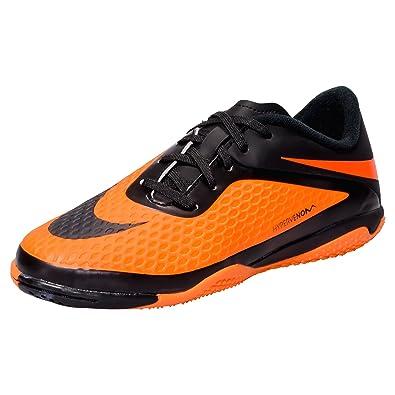 fed72fb4d Nike Kid's Hypervenom Phelon IC Indoor Soccer Shoes Black/Citrus ...
