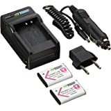 Wasabi Power Battery (2-Pack) and Charger for Sony NP-BY1 and Sony HDR-AZ1 Action Cam Mini
