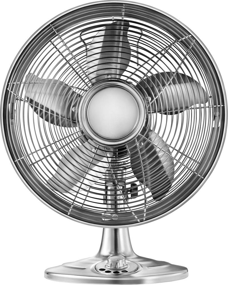 Insignia Retro 12'' Oscillating 3-Speed Personal Table Desk Home or Office Fan (Premium Chrome) by Insignia