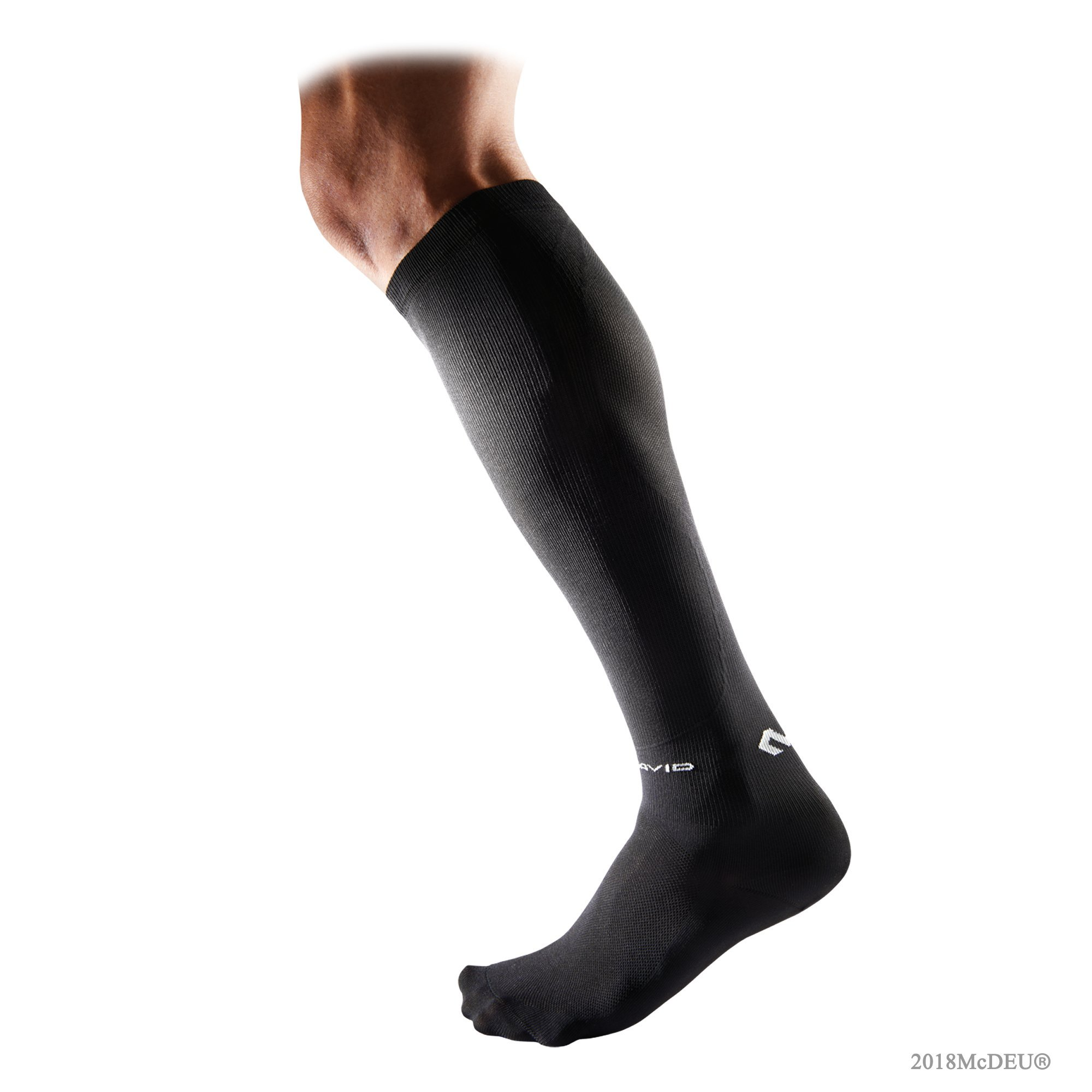 McDavid 8831 Rebound Compression Socks, Black, Size L