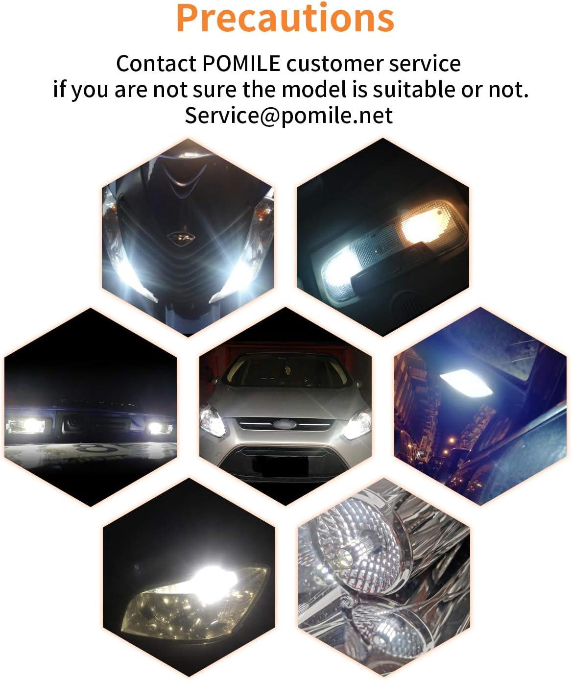 5W 550LM 6000K L/ámparas de Matr/ícula Luces del Maletero POMILE 2PC T10 W5W LED Canbus Bombillas 3014 Chipset LED 30-SMD Luz interior Luces de Lectura Luces de Posici/ón