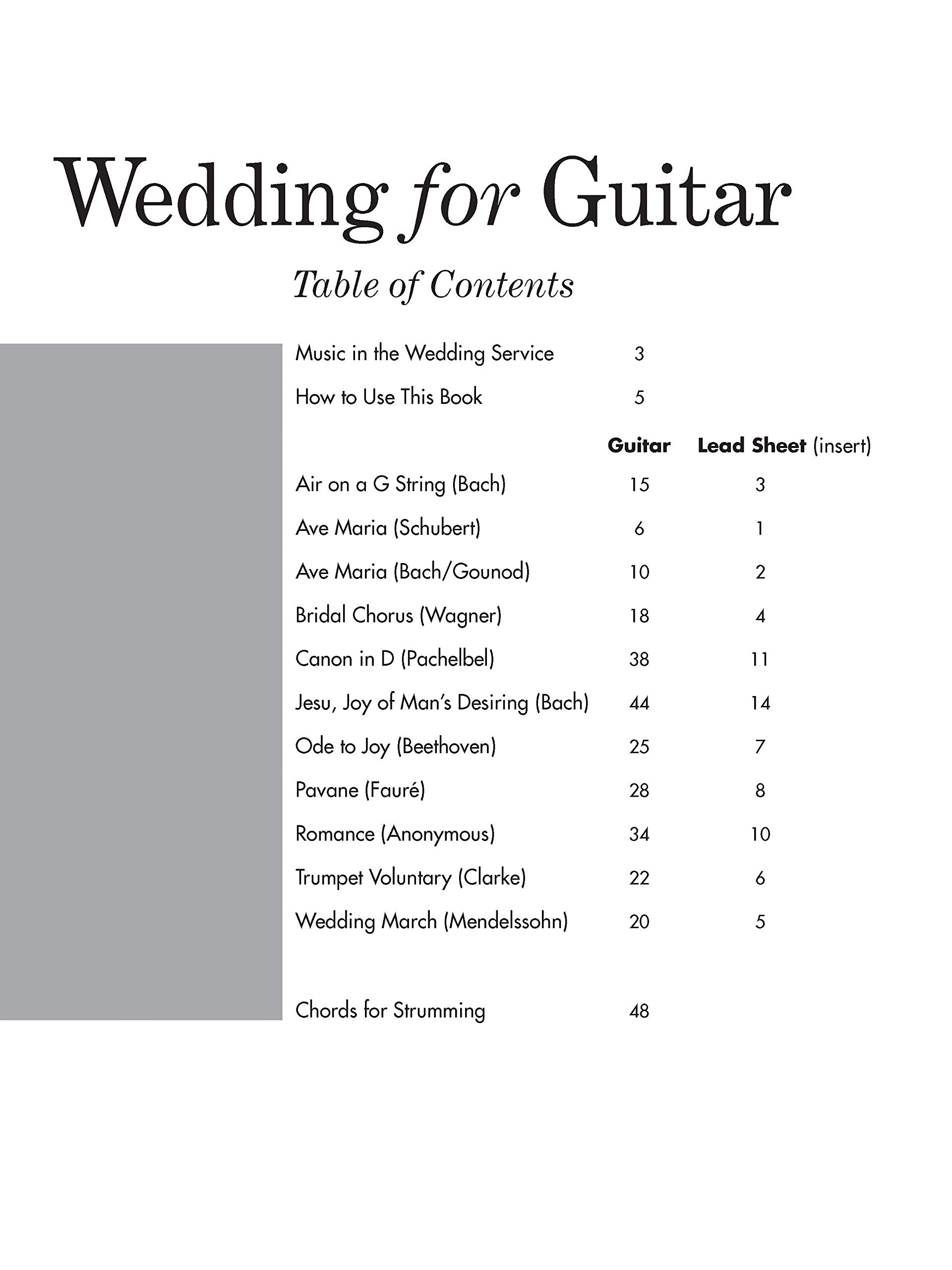 Wedding for Guitar -- In Tab: Solos and Duets with Optional Parts ...