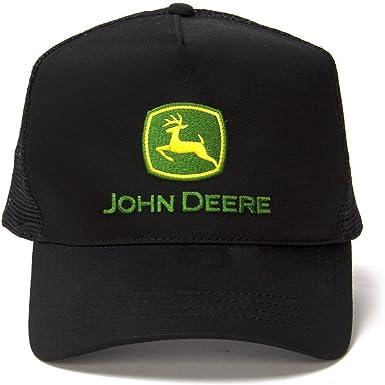 Vintage John Deere negro oficial Trucker gorro para: Amazon.es ...