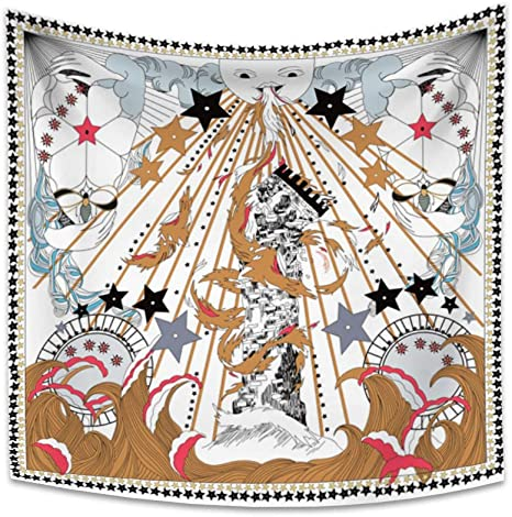 Tarot Card Tapestry 92.5 /'/'X70.9 /'/'//230x180cm Sun Star Moon Wall Hanging Decor