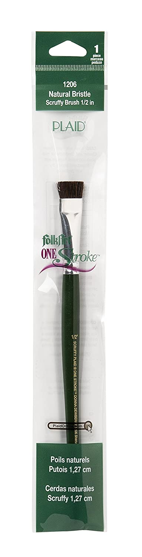 Plaid:Craft One Stroke Brush-Scruffy 1/2