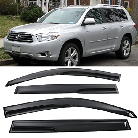 Amazon.com  Window Visor Fits 2008-2013 Toyota Highlander  ce297dd9fd9