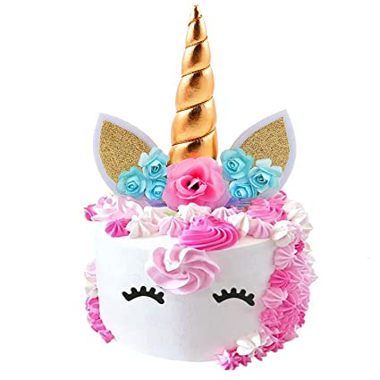 Amazon.com  Fanisi Unicorn Cake Topper Birthday Party Supplies ... bca671c0f8d
