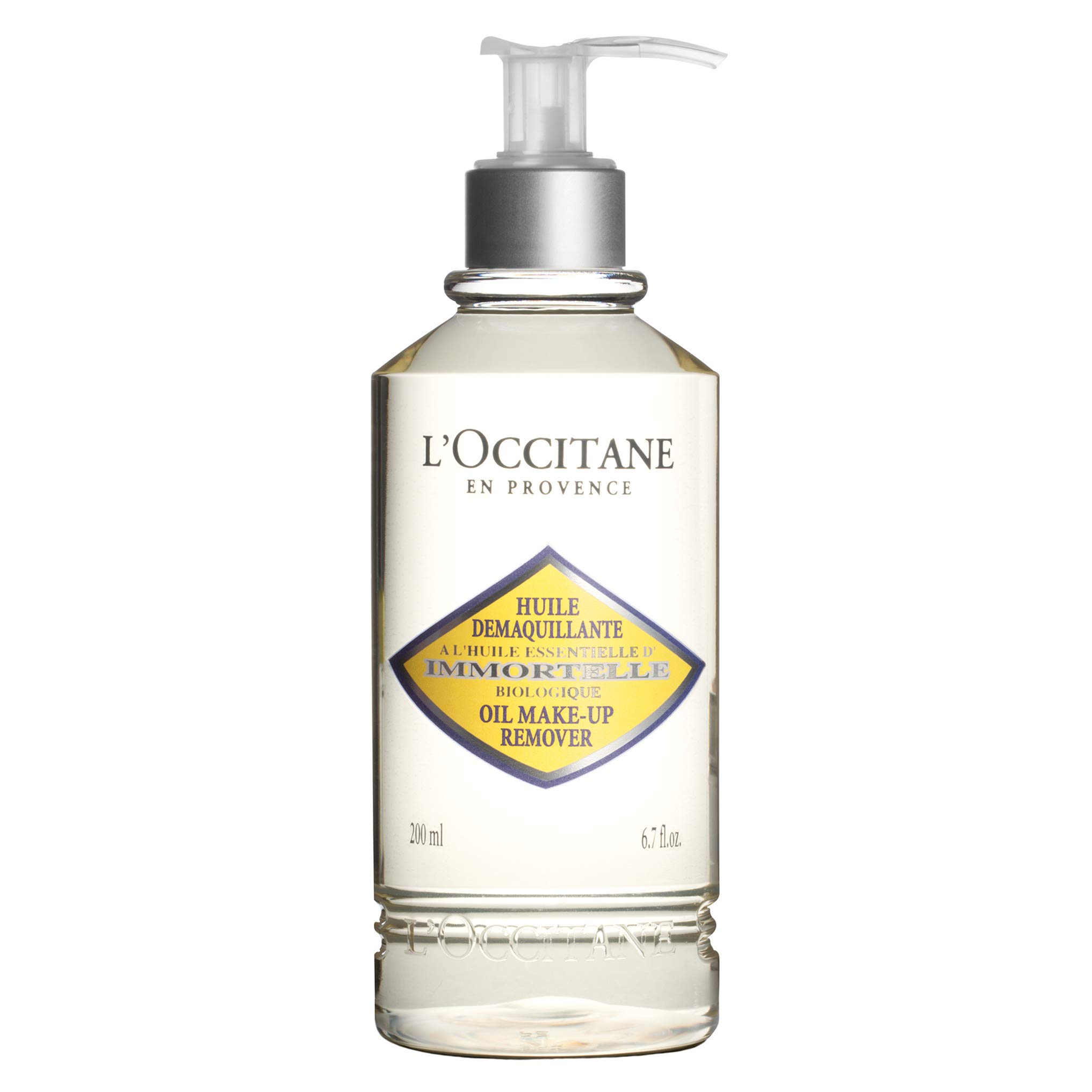 L'Occitane Silky Immortelle Oil Cleanser and Make-up Remover for All Skin Types, 6.7 fl. oz.