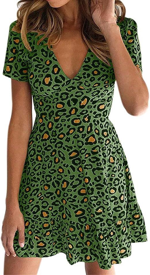 Vestido para Mujer, Vestidos Mujer Casual Verano 2019 Boho Vestidos Cortos Mujer Verano Vestido Playa Mujer Vestido de Playa Ropa de Mujer en Oferta: Amazon.es: Ropa y accesorios