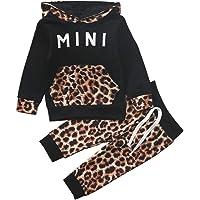 Sudaderas con Capucha para niñas pequeñas, chándales, Sudadera con Capucha de Color sólido, suéter, Pantalones Largos…