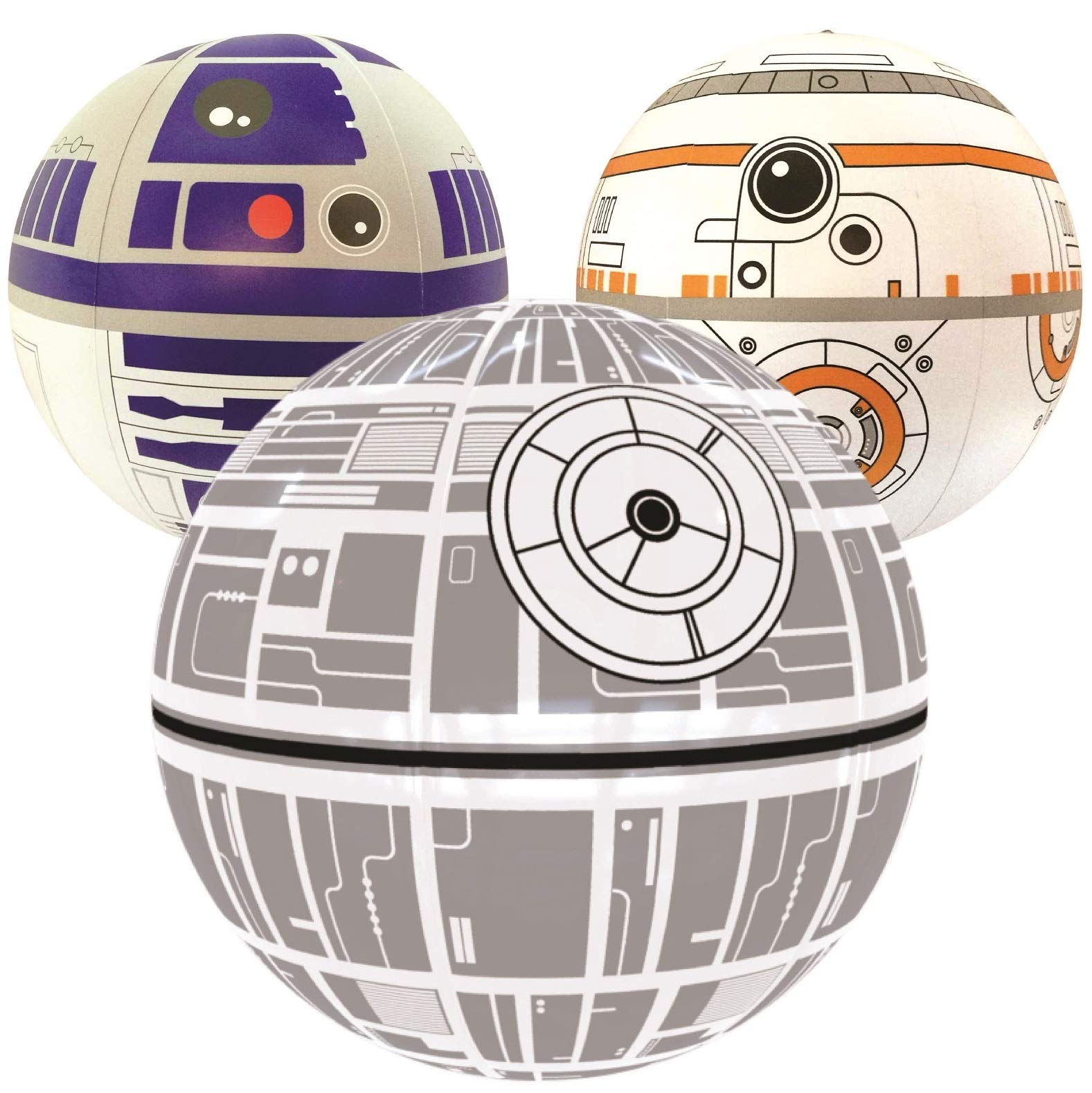 Nino-star Large Beach Ball Set of 3 - Pool Inflatable Water Toys - Fun Summer Gift