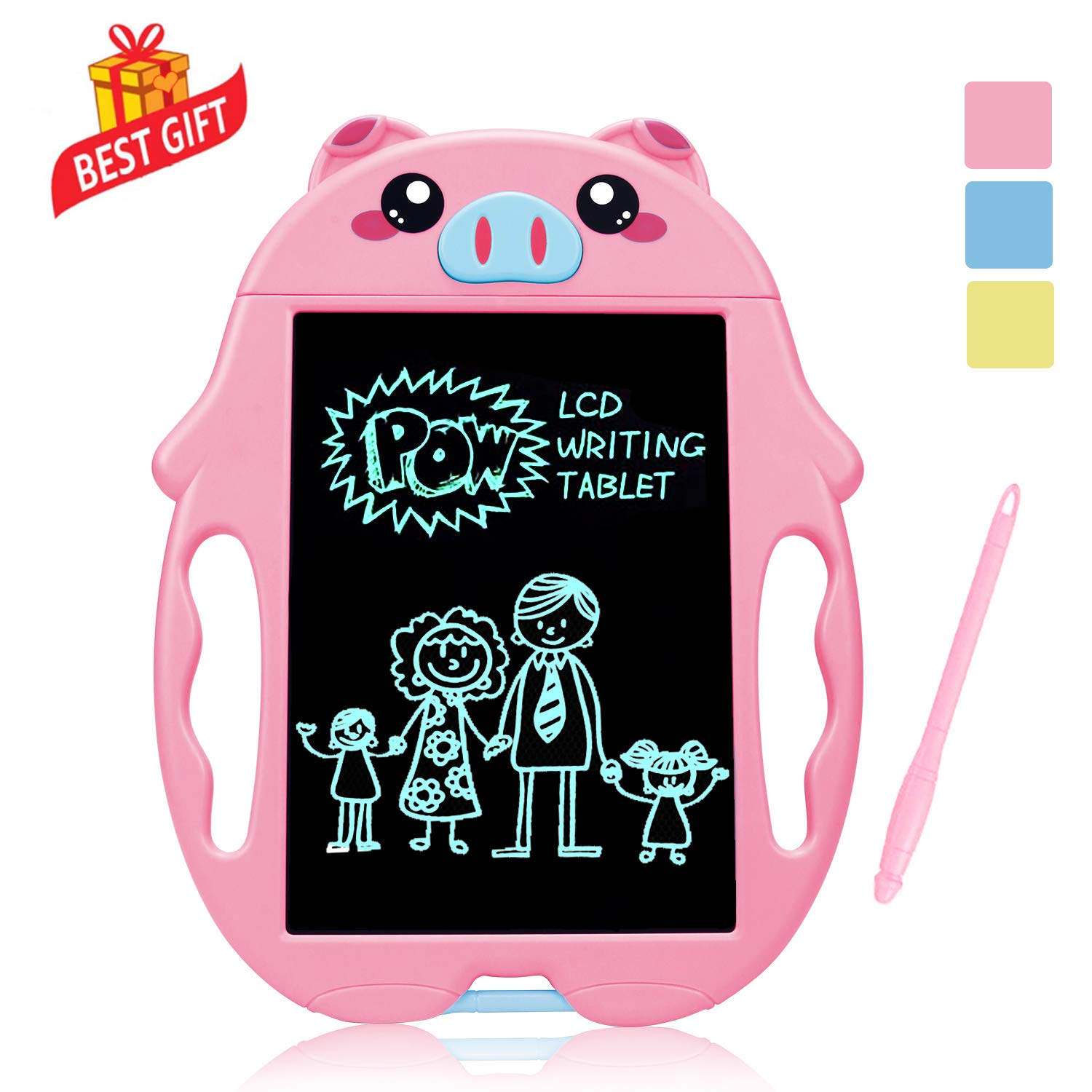 SLHFPX LOFEE Birthday Present for 2-6 Years Old Girl, Boogie Board Magna Doodle for Kids Best Gifts for 5-12 Year Old Boys Girls Writing Tablet Doodle Board for Kids Toddlers Pink by SLHFPX