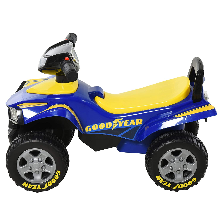 HOMCOM Rutscher Kinder Rutscherauto Kinderauto Kinderfahrzeug Licht Musik Hupe Kunststoff Stahl Blau 60 x 38 x 42 cm