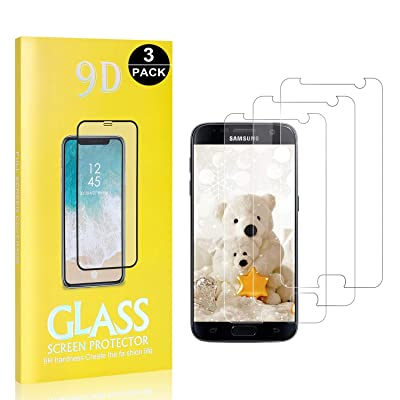 3 Pack Screen Protector Compatible with Galaxy S7, UNEXTATI 9H Tempered Shatterproof Glass Screen Protector for Samsung Galaxy S7, Anti Shatter Film : Baby