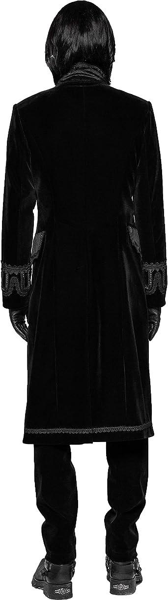 Punk Rave Black Gothic Vintage Long Coat Masquerade Party Victorian Jacket Men