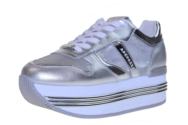 Apepazza Schuhe Frau niedrige Turnschuhe mit plattform RDP03   Metal Rubye