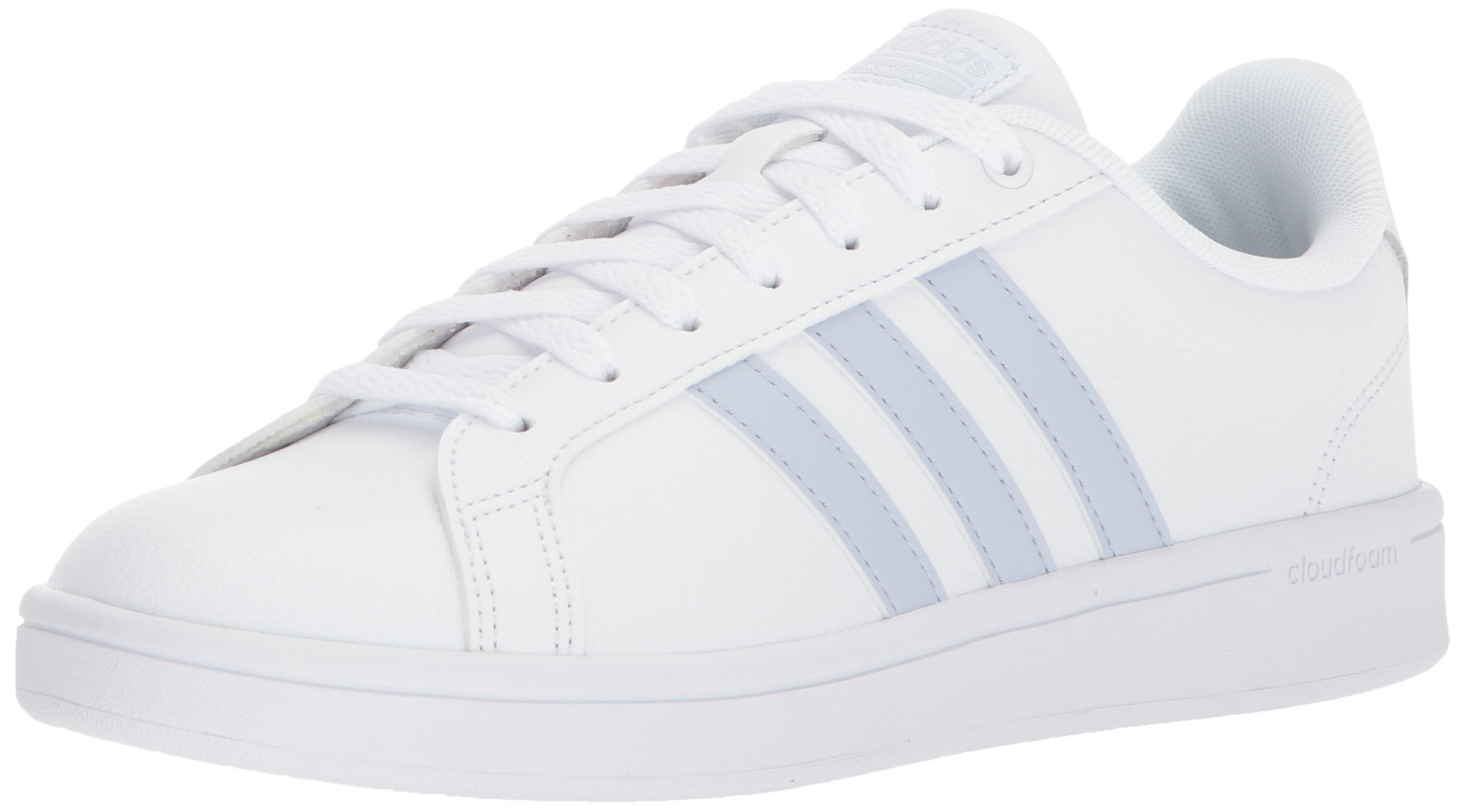 adidas Women's CF Advantage Sneaker,White, Aero Blue s, Core Black, 9.5 M US