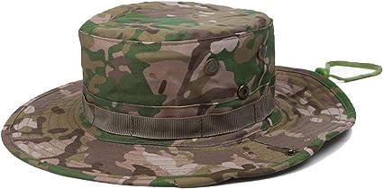 Unisex Bucket Military Hunting Boonie Hat Fishing Camping Beach Sun Cap Camo