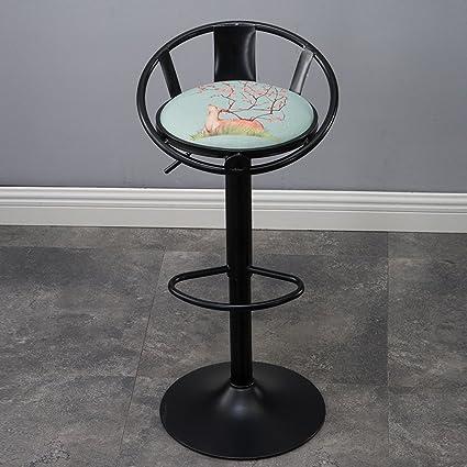 Marvelous Amazon Com Yxyh Lift Rotating Chair Breakfast Cartoon Faux Alphanode Cool Chair Designs And Ideas Alphanodeonline