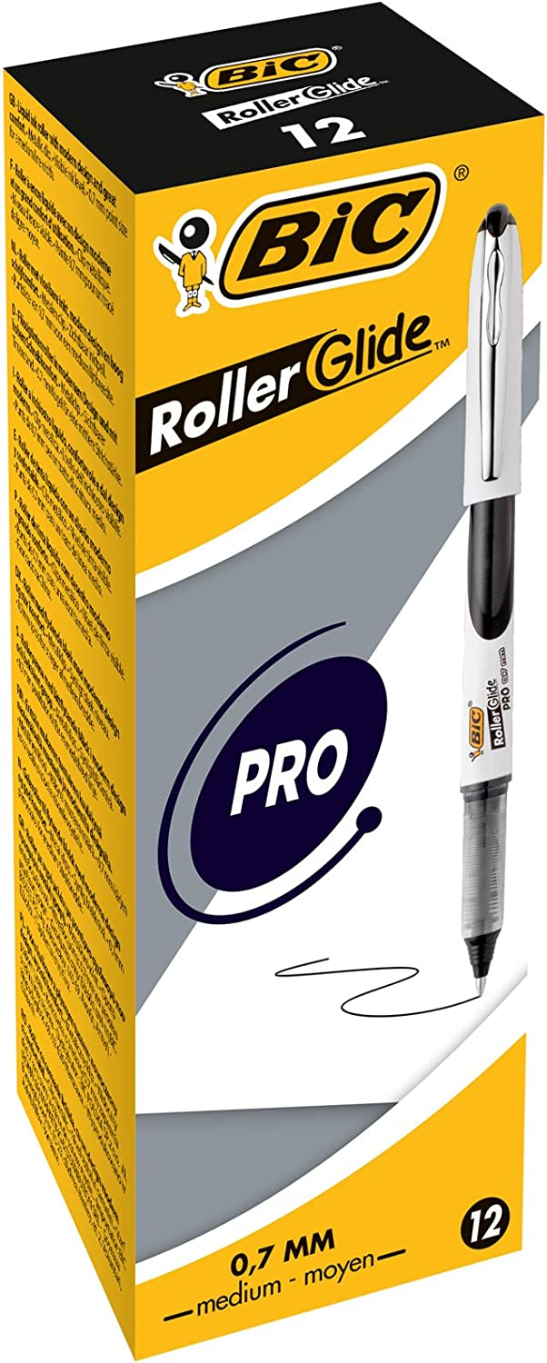 BiC 537r 0.5mm Needlepoint Tip Liquid Ink Roller Pen - Assorted Colours_Parent 0.7mm - Box of 12