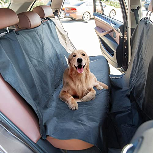 Kinbor Dog Car Seat Covers Waterproof Scratch Proof Nonslip Car Hammock for Dogs Washable Pet Seat Cover for Back Seat SUV Car Truck