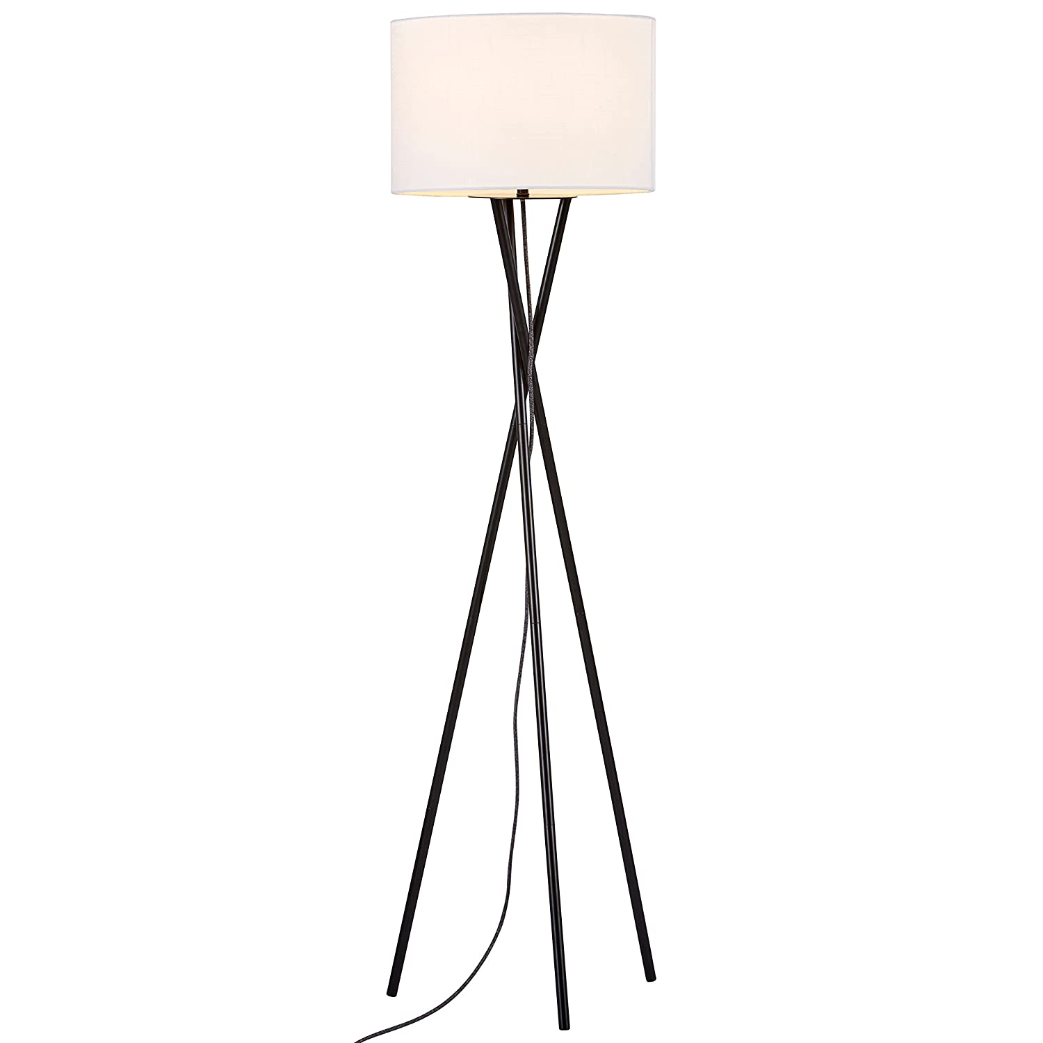 Floor lamps amazon lighting ceiling fans lamps shades rivet black metal tripod floor lamp geotapseo Images