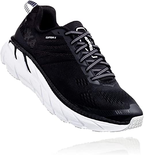 Hoka CLIFTON 6, Zapatillas de Running por Mujer, Negro (Black/White BWHT), 41 1/3 EU: Amazon.es: Zapatos y complementos