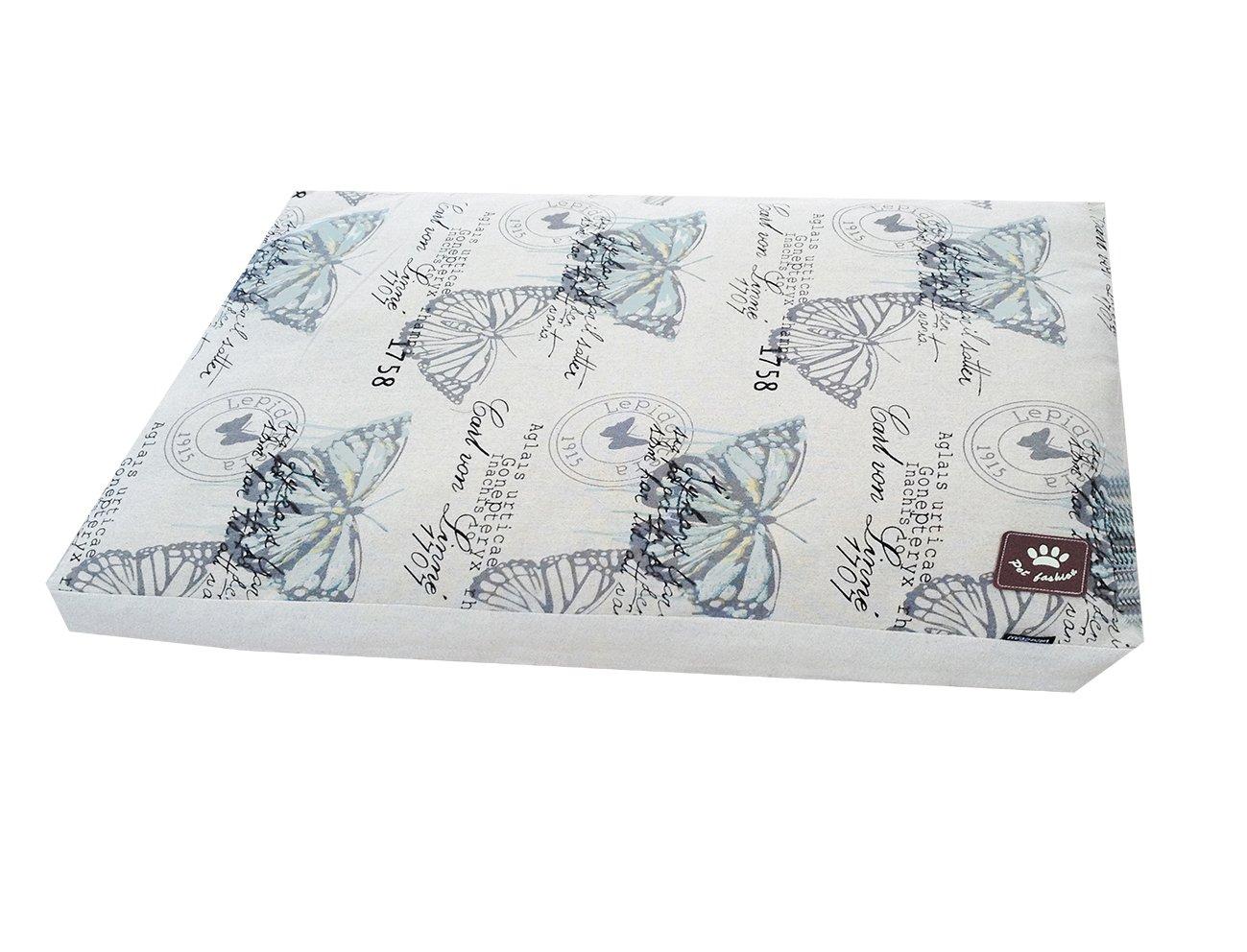 risparmia fino al 70% VADIGRAN Materasso per Cane Stile Farfalla Bianco Bianco Bianco Blu 110 x 70 x 10 cm  prezzi bassi