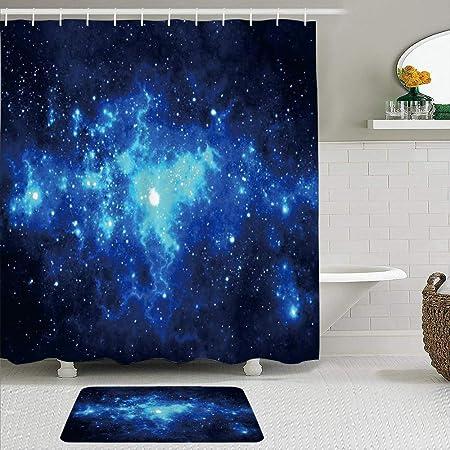 Nebel Duschvorhang Galaxy Sterne im Weltraum