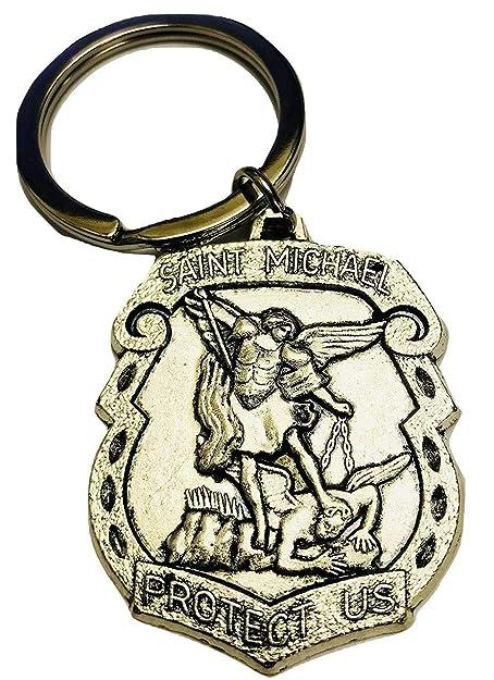 Amazon.com: ST Michael el llavero Arcángel Santo Patrón ...